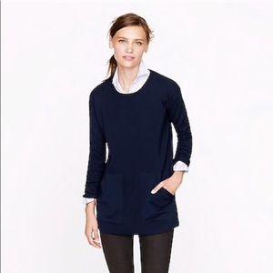 J. Crew | Navy Blue Merino Wool Pocket Tunic